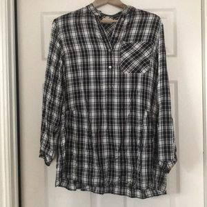Aritzia (Wilfred) Plaid Shirt Dress